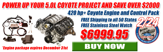 Ford Coyote Engine and Control Pack Promotion Save Over $2,000!