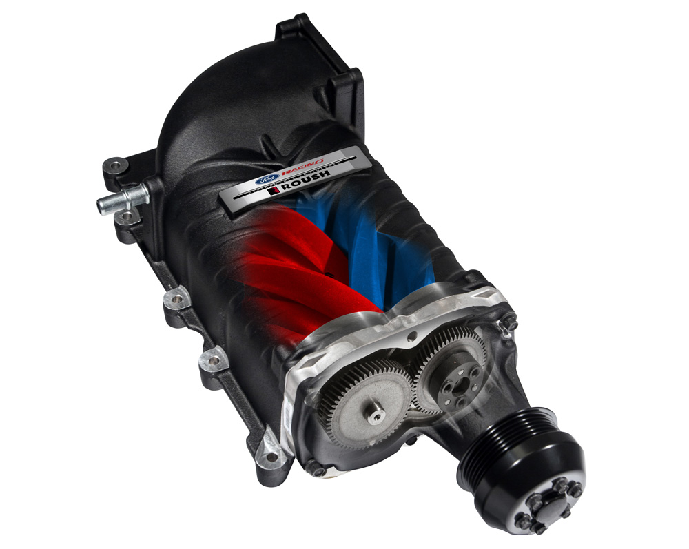 Ford Racing 2015 Mustang GT Supercharger Compressor Cutaway View