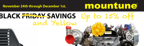 Mountune Black and Yellow 15% off Sale 11/24-12/1